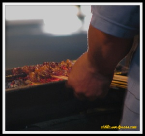 grill chicken satay